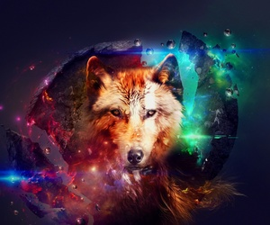 art, fantasy, and wolf image