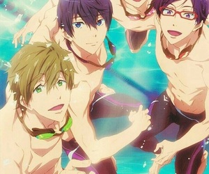 anime, swim, and free! image