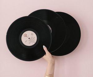 disc, minimalist, and music image