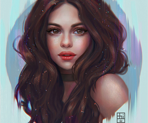 art, selena gomez, and beautiful image