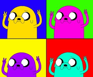 JAKe, adventure time, and pop art image
