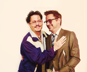 johnny depp, robert downey jr, and actor image