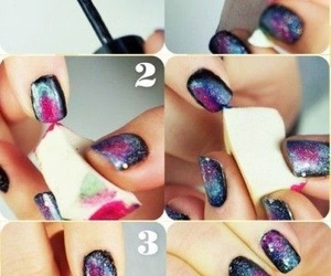 diy, galaxy, and nails image