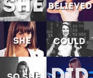 glee, lea michele, and proud image