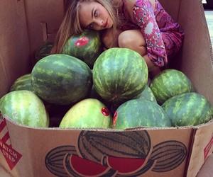 cara delevingne, model, and watermelon image