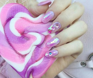 nails, pink, and sweets image
