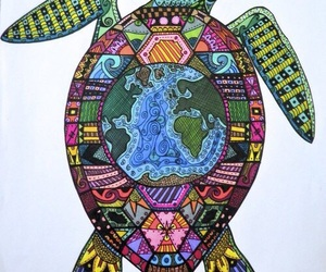mandala and turtle image