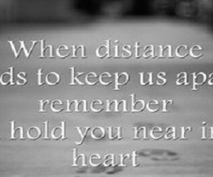 black and white, heart, and long distance image