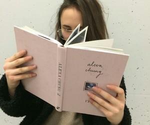 girl, book, and tumblr image