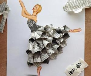 art, dress, and draw image