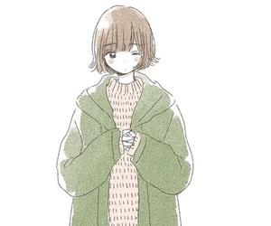 anime girl, embracing, and fashion image