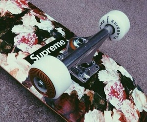 flowers, supreme, and white image