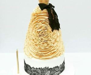 black, cake, and dress image