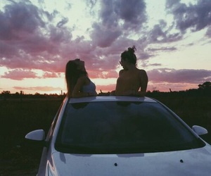 friendship, girls, and sky image