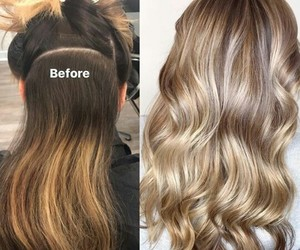 after, before, and blond image