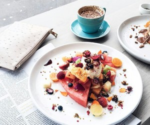 coffee, eat, and fruit image