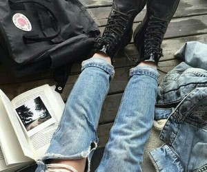 grunge, jeans, and book image
