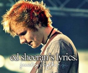 ed sheeran, Lyrics, and music image