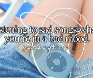 music, sad, and song image