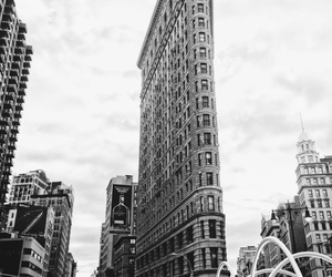 beautiful places, manhattan, and black and white image