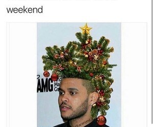 christmas, funny, and the weeknd image