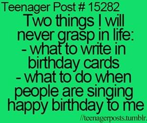 teenager post, birthday, and funny image