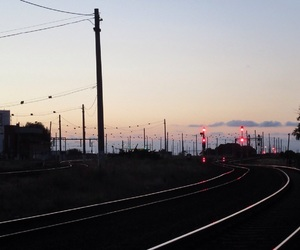 pastel, tracks, and railway image