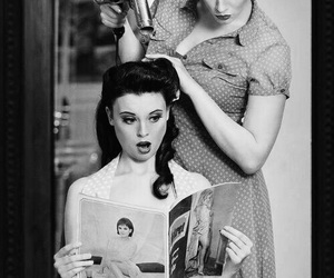 fifties, hairstyle, and rockabilly image