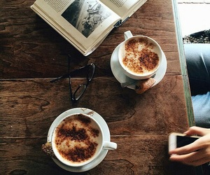 coffee, book, and tumblr image