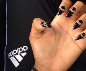 nails, adidas, and black image