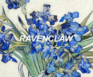 ravenclaw, flowers, and harry potter image