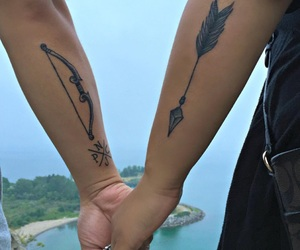matching, Tattoos, and love image