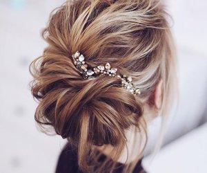 włosy, kobieta, and piękno image