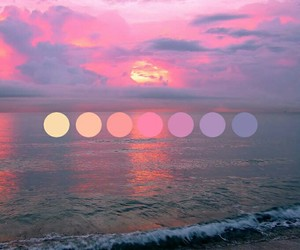 pink, sunset, and purple image