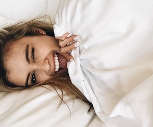bed, girl, and fashion image