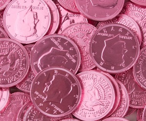 pink, money, and coin image