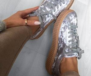 shoes, puma, and nails image