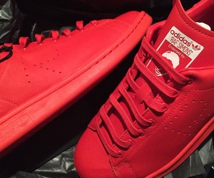 shoes, adidas, and red image