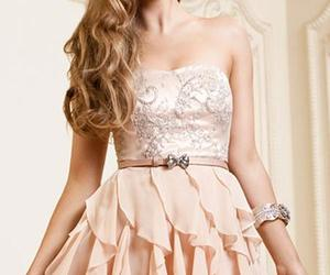 beauty, dress, and Prom image