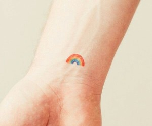 rainbow, small, and tattoo image