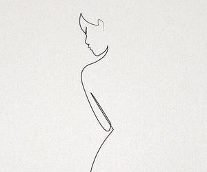 art, woman, and drawing image