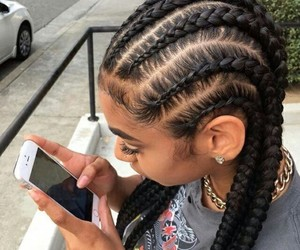 blackhair, braids, and cute image