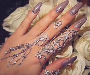 crystals, hand jewelry, and pretty image
