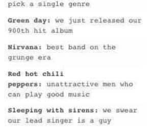 bands, green day, and nirvana image