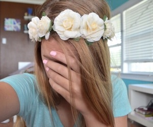 tumblr, flower crown, and flowers image