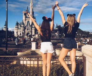 disney, best friends, and castle image