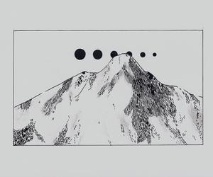 mountains, art, and drawing image