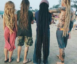 dreadlocks, dreads, and hair image