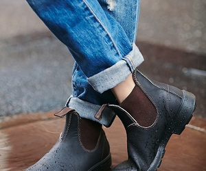 autumn, boots, and jeans image