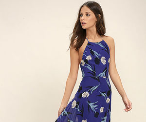 cute dress, wedding guest dresses, and royal blue image